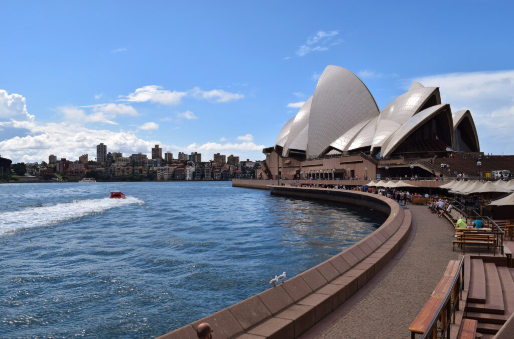 Backpacken Melbourne naar Sydney Opera House.
