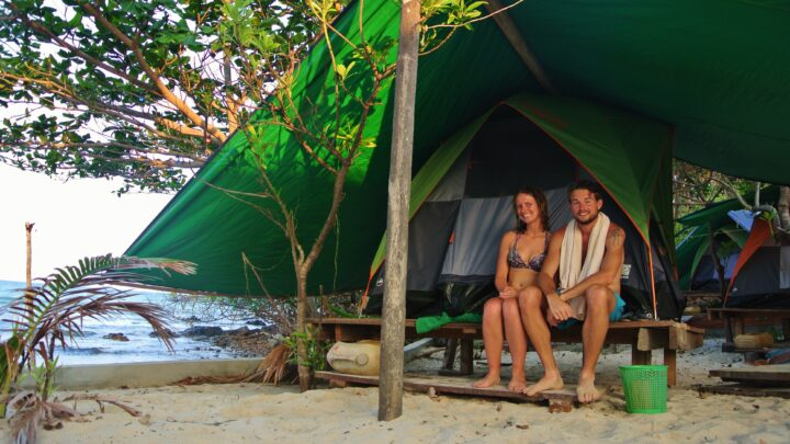 Cambodja: slapen in een tentje op het strand van Koh Rong