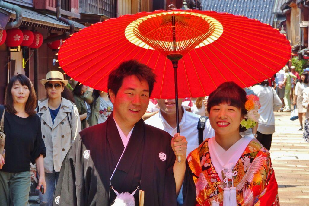 Japanse Alpen Geisha wijk Kanazawa