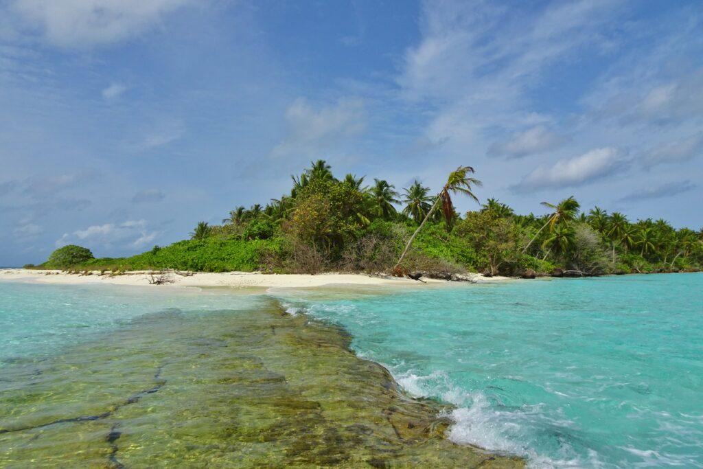 Backpacken Malediven tip: Feridhoo eiland.