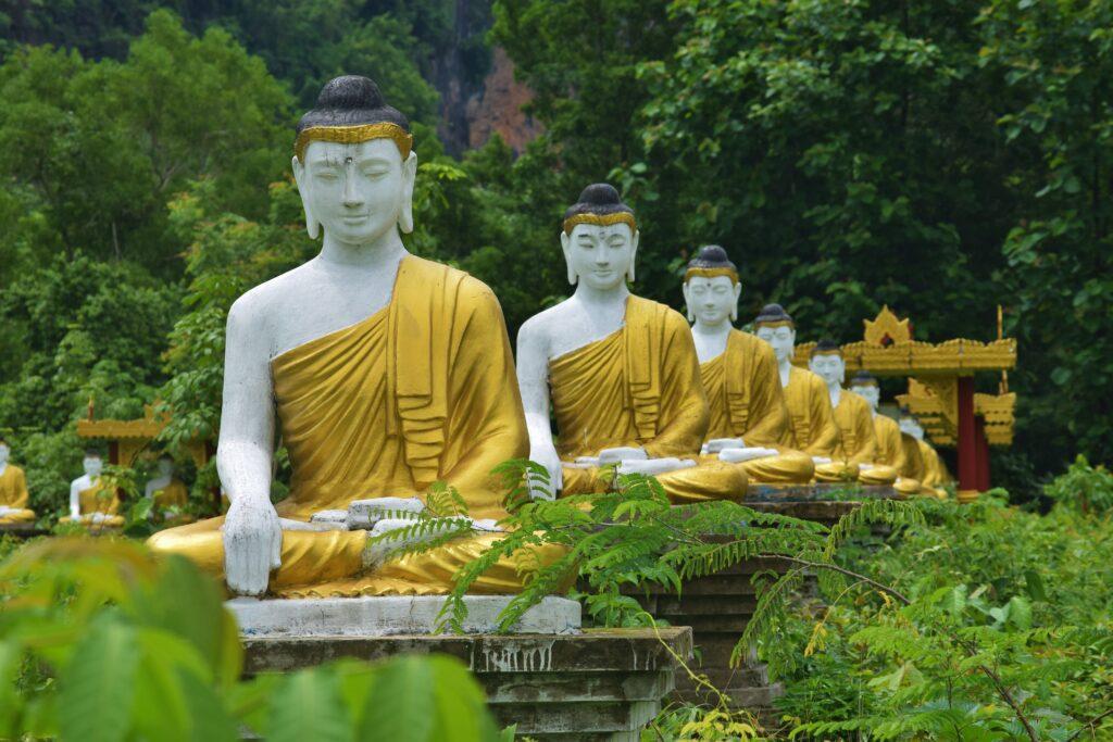 Het startpunt als je gaat backpacken in Myanmar is Hpa An, vlakbij de grens met Thailand.