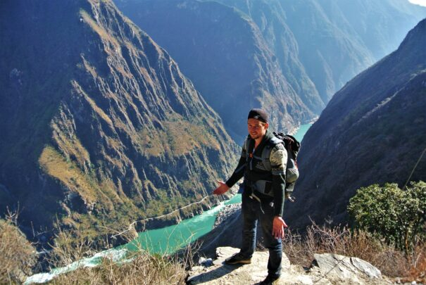 Hiken door de Tiger Leaping Gorge in China