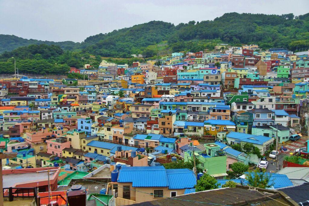 Gamcheon de meest kleurrijke wijk van Korea.