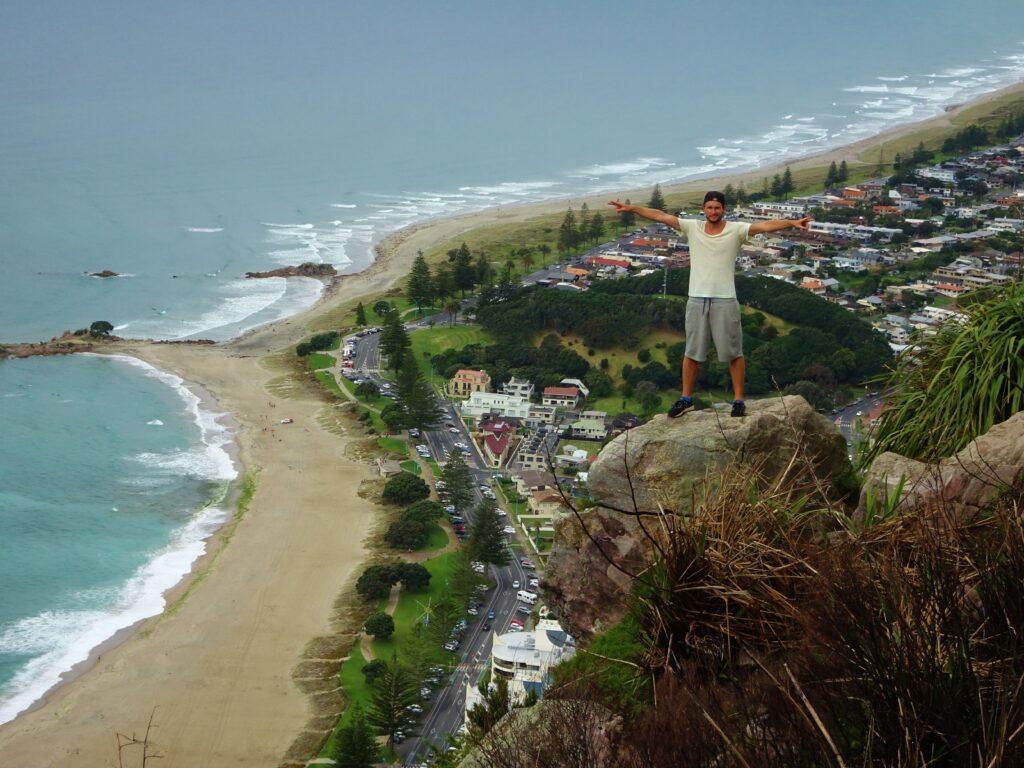 Een hoogtepunt tijdens je roadtrip door Nieuw-Zeeland, Mount Manganui.