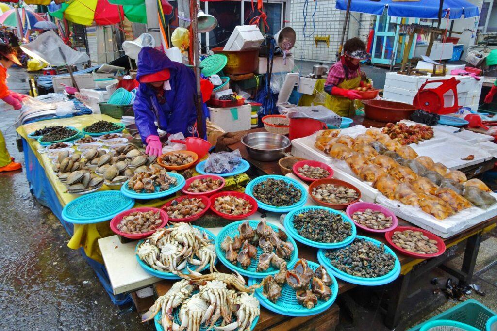 Jachalchi, de grootste vismarkt van Zuid-Korea