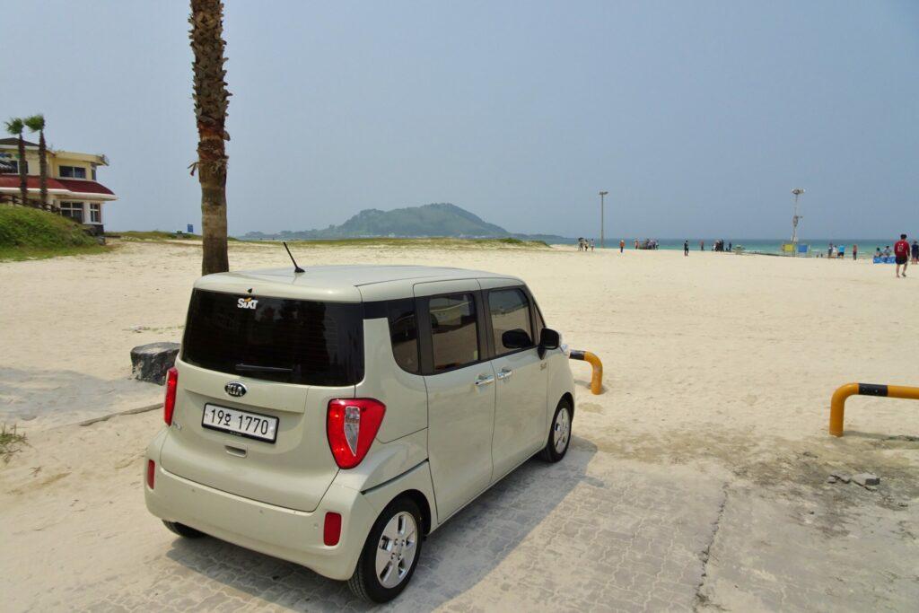 Kia Ray onze huurauto op Jeju, Zuid-Korea