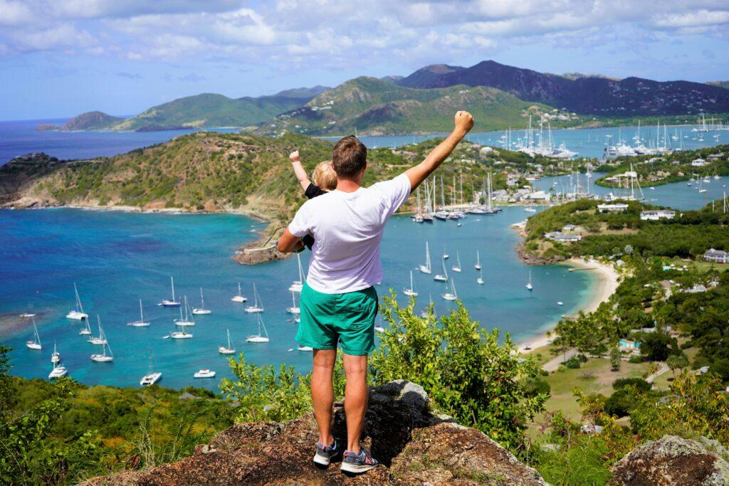 Uitzicht Shirley Heights in Antigua