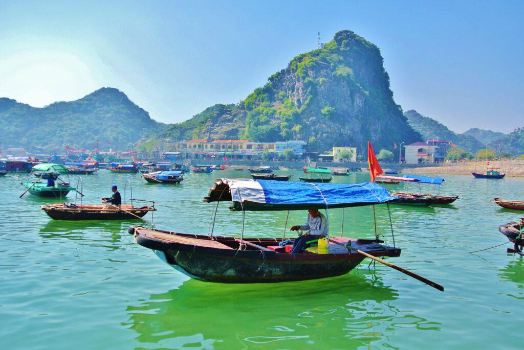 Ha Long Bay in het Noorden van Vietnam