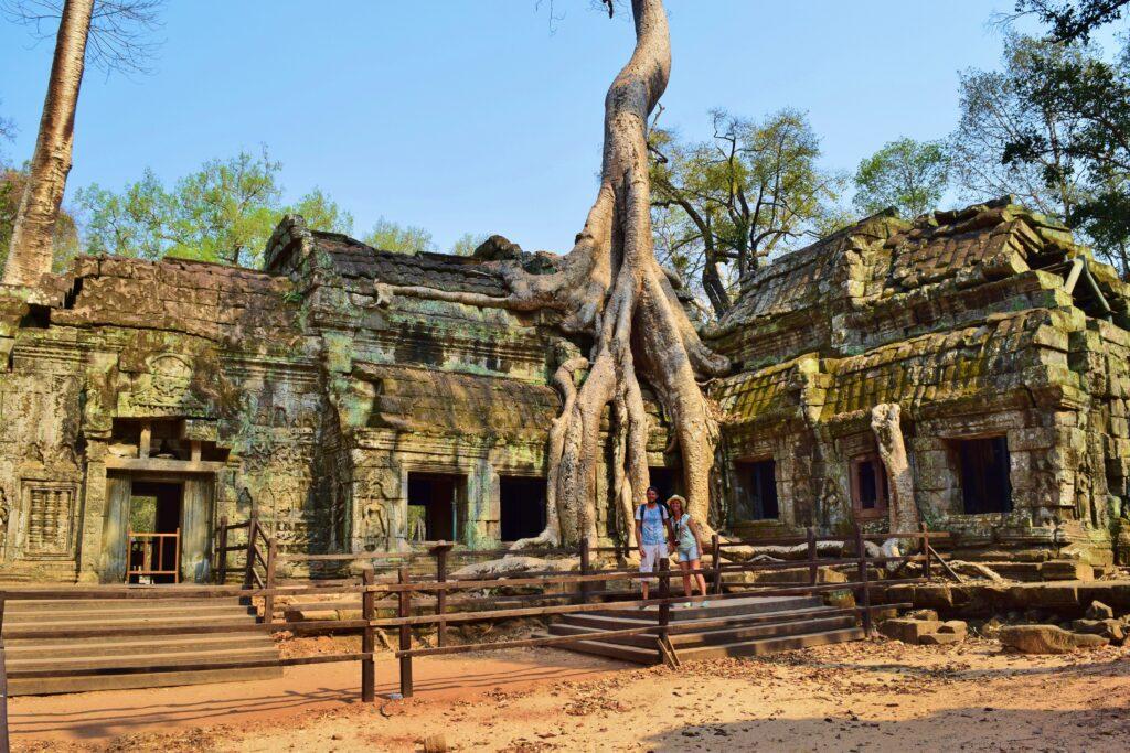 Ta Prom is een hoogtepunt van Cambodja, in het tempelcomplex Angkor Wat bij Siem Reap.